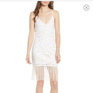Sequin & Fringe Lace Dress